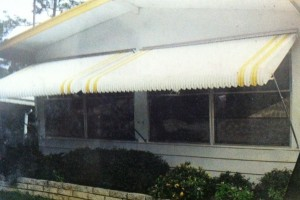 Fold Down Storm Awning.